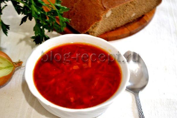 борщ с фасолью рецепт пошаговый с фото постный