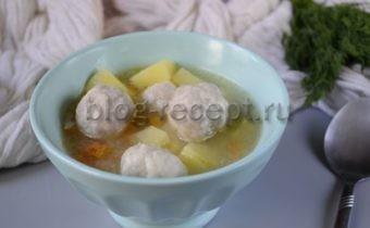 суп с фрикадельками пошаговый рецепт с фото с рисом