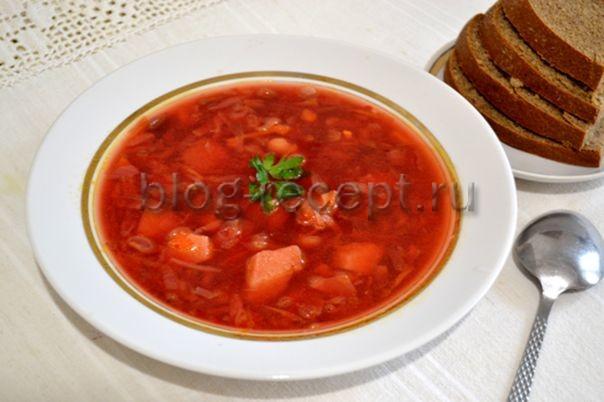 борщ рецепт с квашеной капустой