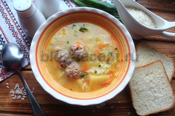 Суп диетический с рисом и фрикадельками - рецепт пошаговый с фото