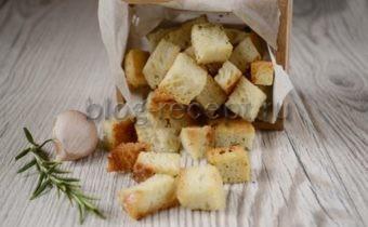гренки в духовке из белого хлеба