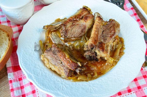 ребрышки свиные на сковороде рецепт с фото