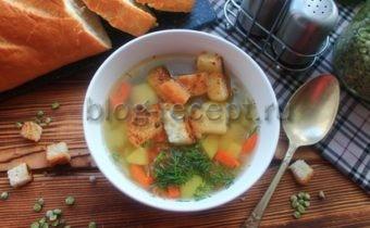 суп гороховый постный в мультиварке