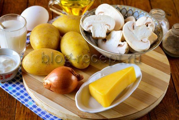 Картофель с сыром и сметаной - 13 пошаговых фото в рецепте