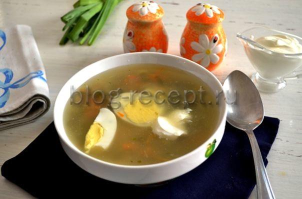 суп с щавелем и яйцом пошаговый рецепт