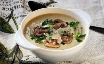 суп пюре из шампиньонов с сыром плавленным рецепт
