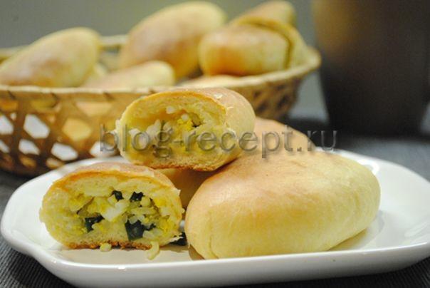 пирожки в духовке с яйцом и зеленым луком
