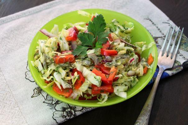 салат из капусты с болгарским перцем рецепт с фото очень вкусный