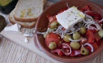салат греческий рецепт классический с фетаксой