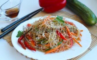 салат фунчоза с овощами рецепт в домашних условиях