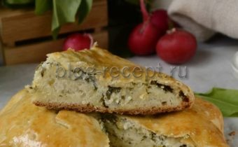 пирог со щавелем из дрожжевого теста