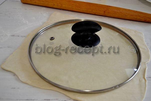 Рогалики с шоколадом из слоеного теста - рецепт пошаговый с фото