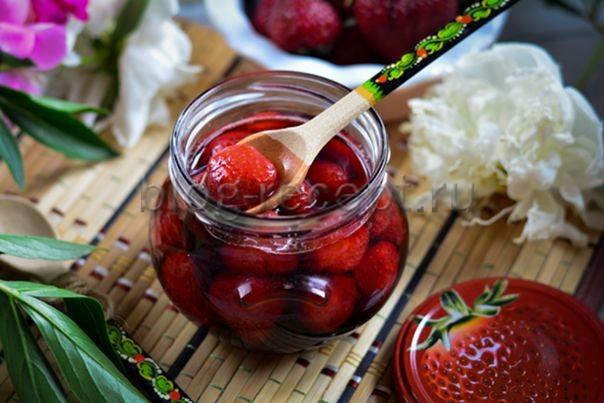 клубничное варенье без варки ягод лучший рецепт