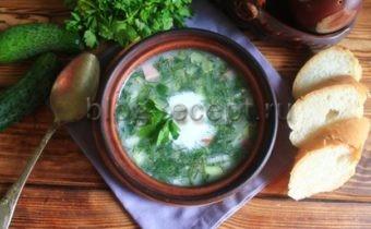окрошка рецепт классическая с колбасой на кефире
