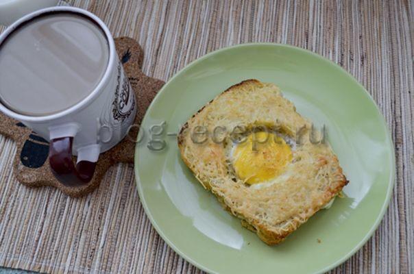 гренки с яйцом и сыром в духовке