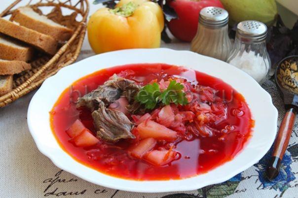 борщ из говядины пошаговый рецепт с фото