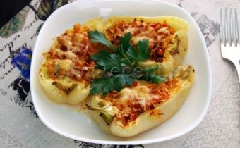 перец фаршированный в духовке с сыром рецепт с фото