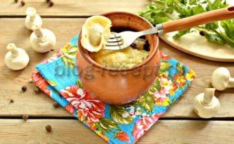 пельмени в горшочке в духовке рецепт с фото