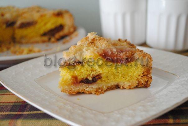 вкусный пирог со сливами рецепт с фото пошагово в духовке