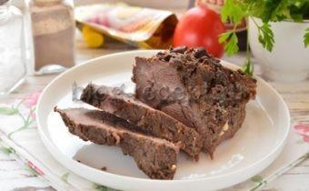 говядина с черносливом в духовке рецепт с фото