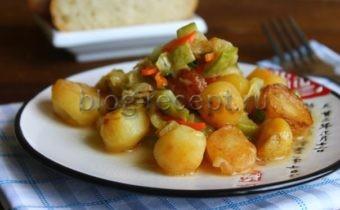 овощное рагу с кабачками и картошкой рецепт с фото