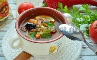 рыбная солянка пошаговый рецепт с фото