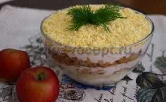салат мимоза с яблоком