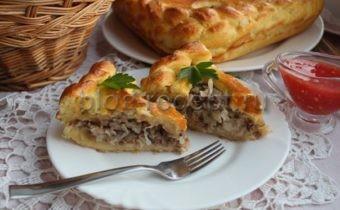 пирог с капустой с мясом