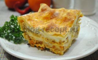 лазанья рецепт классический с соусом бешамель пошаговый рецепт с фото