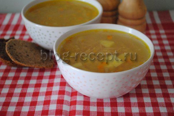 суп с жареной вермишелью