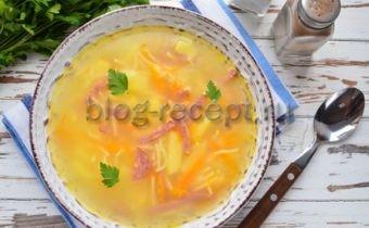 суп с вермишелью и колбасой