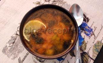 солянка сборная с колбасой классическая рецепт с фото