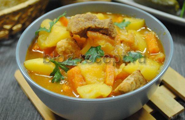 рагу из свинины с картошкой рецепт с фото