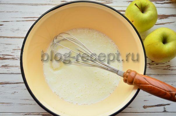 смешать кефир с сахаром