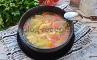 суп куриный с лапшой в мультиварке