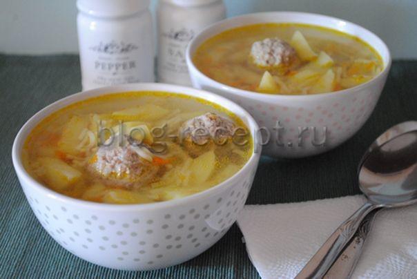 суп с фрикадельками из индейки