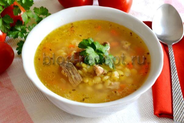 суп гороховый со свининой рецепт