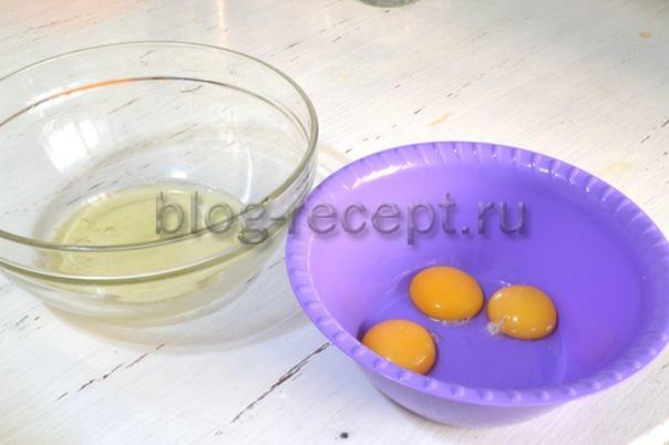 отделяем белки от желтков