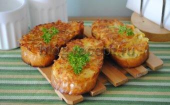 горячие бутерброды на сковороде с картошкой