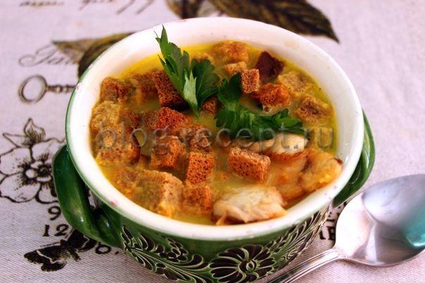 суп крем сырный с курицей