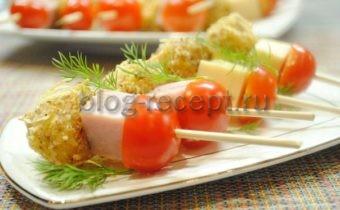 канапе на праздничный стол рецепты с фото