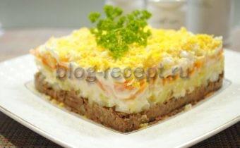 салат с тунцом мимоза