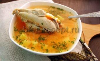 суп куриный с рисом и картошкой