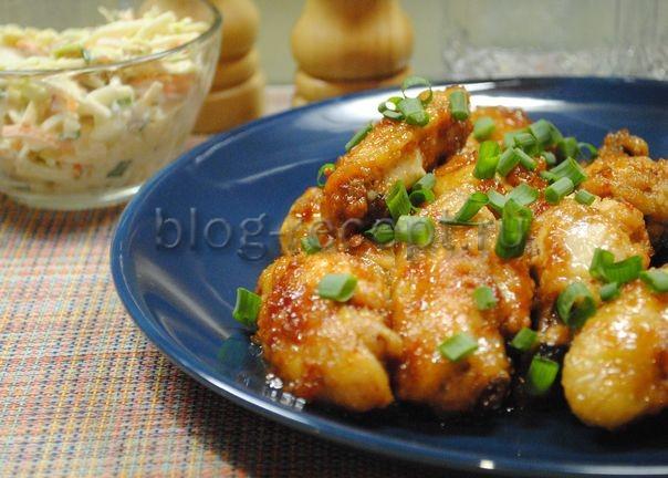крылышки куриные в кисло сладком соусе