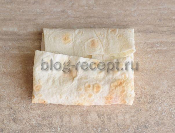 Бутерброды в лаваше с крабовыми палочками