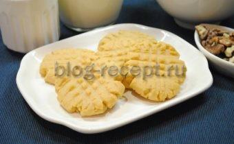Печенье с арахисовой пастой