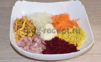 салат радуга рецепт