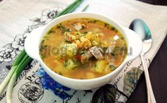 суп гороховый с копченой курицей