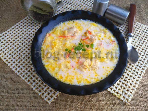 суп сырный с курицей в мультиварке