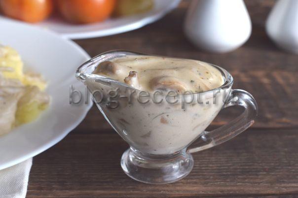 соус грибной из шампиньонов